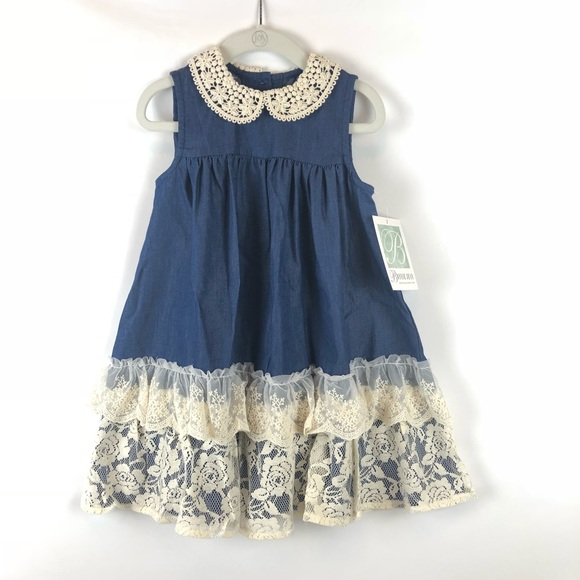 fit for an Angel!!!! Bonnie Jean Navy Lovely Dress NWT Size 2T /& 3T